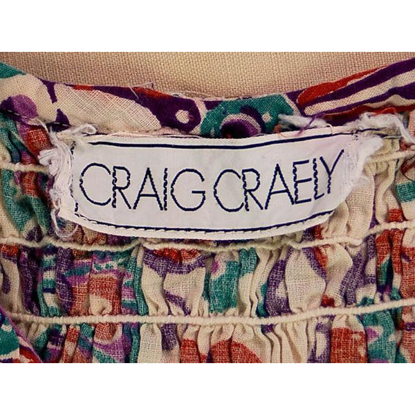 Vintage 2 PC Skirt & Crop Top Print Craig Craely 1970s Small-Med - The Best Vintage Clothing  - 5
