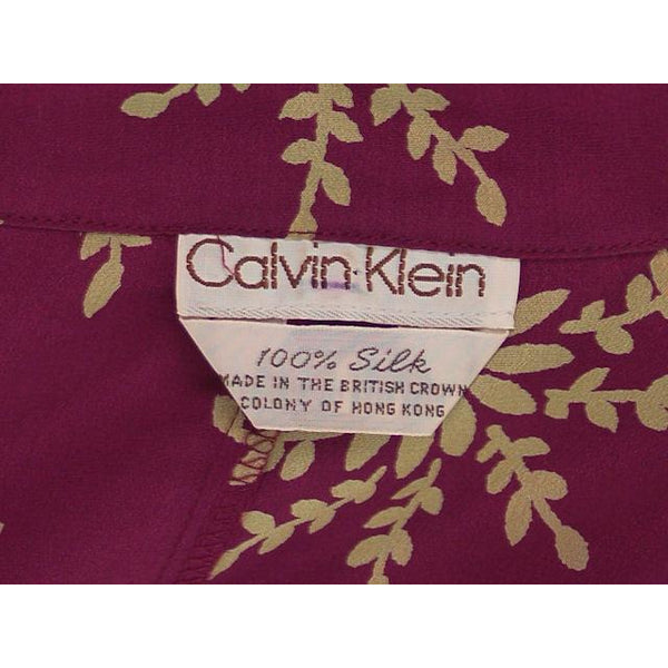 Vintage Calvin Klein 3 PC Suit Silk NOS 1980s - The Best Vintage Clothing  - 5