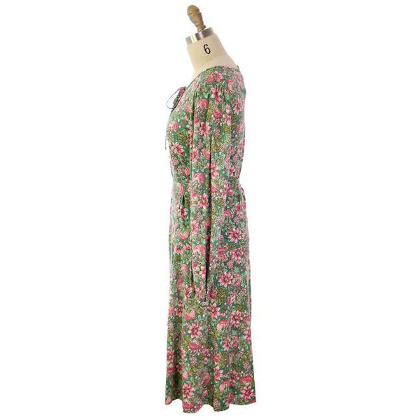 Vintage Floral 2 PC Knit Dress & Matching Scarf Robert Janan 1980s - The Best Vintage Clothing  - 8
