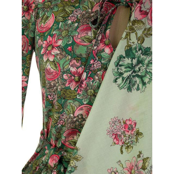 Vintage Floral 2 PC Knit Dress & Matching Scarf Robert Janan 1980s - The Best Vintage Clothing  - 4