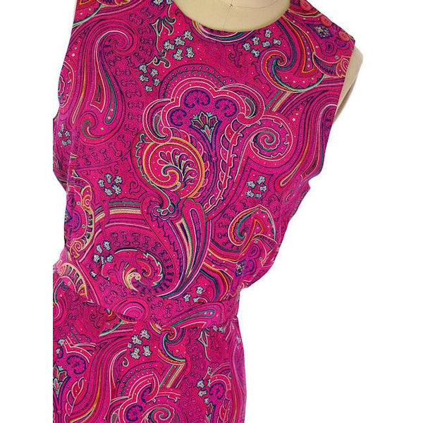 Vintage Gloria Sachs 3PC Silk Paisley Outfit Skirt/Blouse/Camisole 1980s NOS Sz 8 - The Best Vintage Clothing  - 2