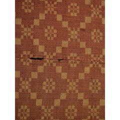 Antique 19th C Jacquard Overshot Coverlet Brown/ Green/ Red Pennsylvania 36 x72 - The Best Vintage Clothing  - 3