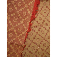 Antique 19th C Jacquard Overshot Coverlet Brown/ Green/ Red Pennsylvania 36 x72 - The Best Vintage Clothing  - 4