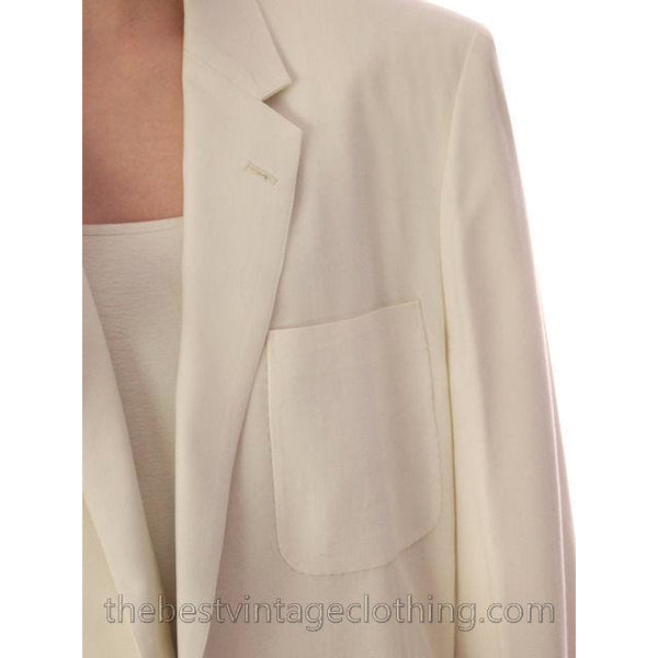 Vintage Mens White Linen Dinner Jacket 1950s Hand Tailored Hong Kong Size 42 - The Best Vintage Clothing  - 5
