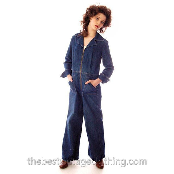 Vintage Womens Denim Jumpsuit 1970s Sears Bust 38 - The Best Vintage Clothing  - 5