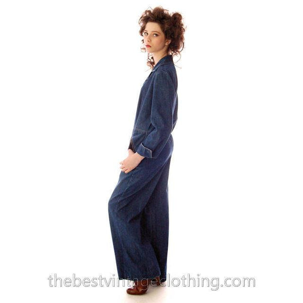 Vintage Womens Denim Jumpsuit 1970s Sears Bust 38 - The Best Vintage Clothing  - 2