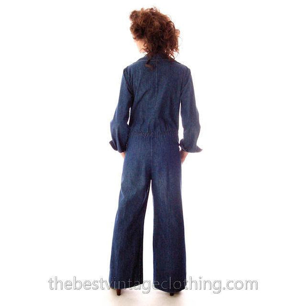 Vintage Womens Denim Jumpsuit 1970s Sears Bust 38 - The Best Vintage Clothing  - 3