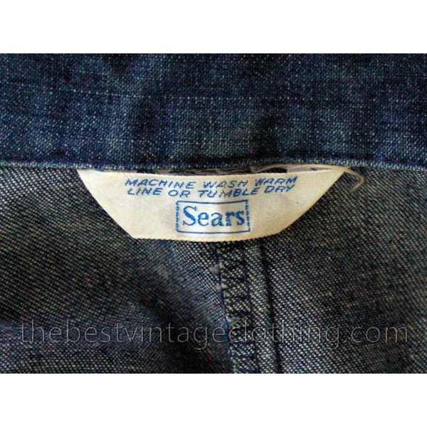 Vintage Womens Denim Jumpsuit 1970s Sears Bust 38 - The Best Vintage Clothing  - 7