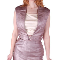 Vintage Mauve Metallic Leather Suit  Pencil Skirt 4 Pc 1950S 33-24-34 - The Best Vintage Clothing  - 8