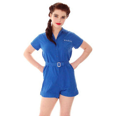 Vintage Gym Suit Royal Blue Cotton 1960s  36-26-40 - The Best Vintage Clothing  - 1
