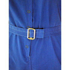 Vintage Gym Suit Royal Blue Cotton 1960s  36-26-40 - The Best Vintage Clothing  - 3