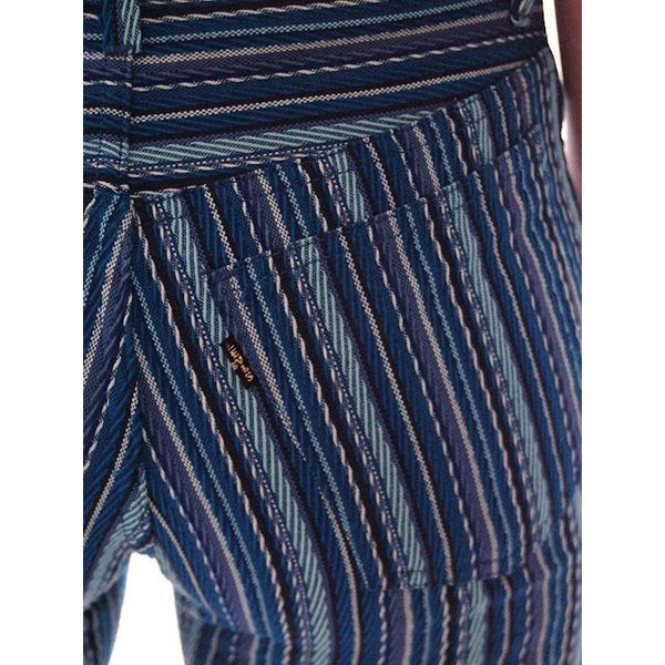 "Vintage Levis Big E Blue Striped Button Fly Womens  29"" Waist  Late 1960s - The Best Vintage Clothing  - 6"