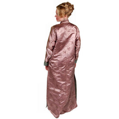 Antique Chinese Robe Silk Damask Mauve Provenance - The Best Vintage Clothing  - 4