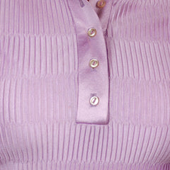 Vintage Kay Silver Knit Top Blouse Lilac Rib Knit Acetate   1970'S S-M - The Best Vintage Clothing  - 5