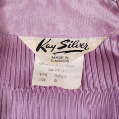 Vintage Kay Silver Knit Top Blouse Lilac Rib Knit Acetate   1970'S S-M - The Best Vintage Clothing  - 8