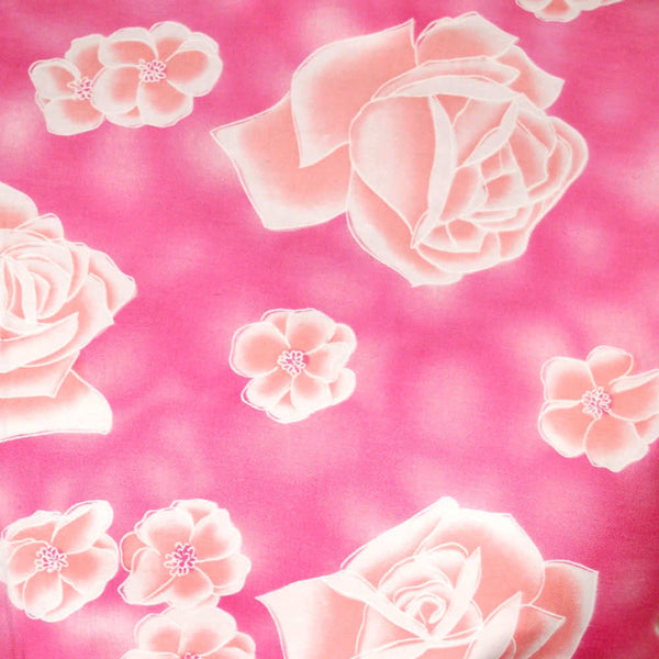 "Vintage Blouse Pink Cotton Middy  W/Rose Print 1950S 39"" Bust - The Best Vintage Clothing  - 2"