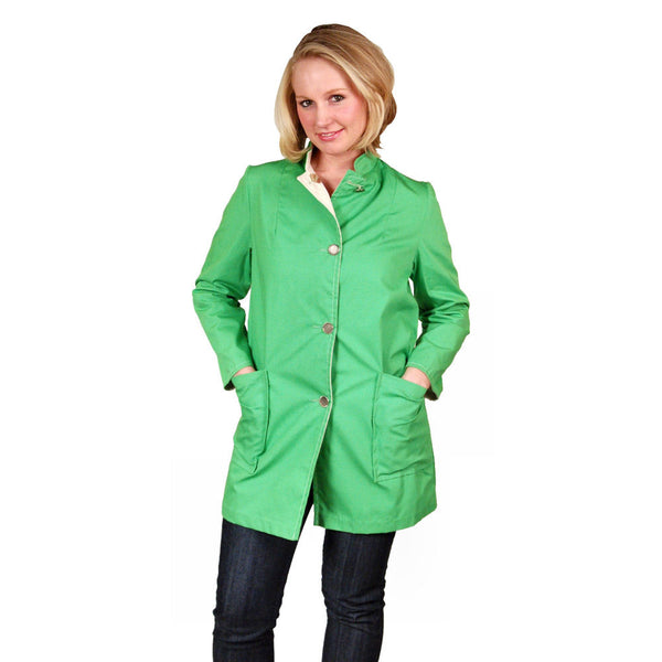 "Vintage Womens Coat Lime/Natural Reversible 1960'S 40"" Bust - The Best Vintage Clothing  - 2"