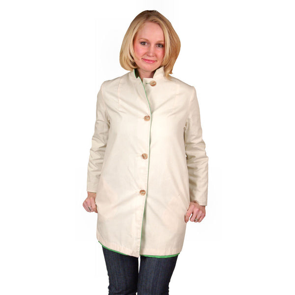 "Vintage Womens Coat Lime/Natural Reversible 1960'S 40"" Bust - The Best Vintage Clothing  - 5"