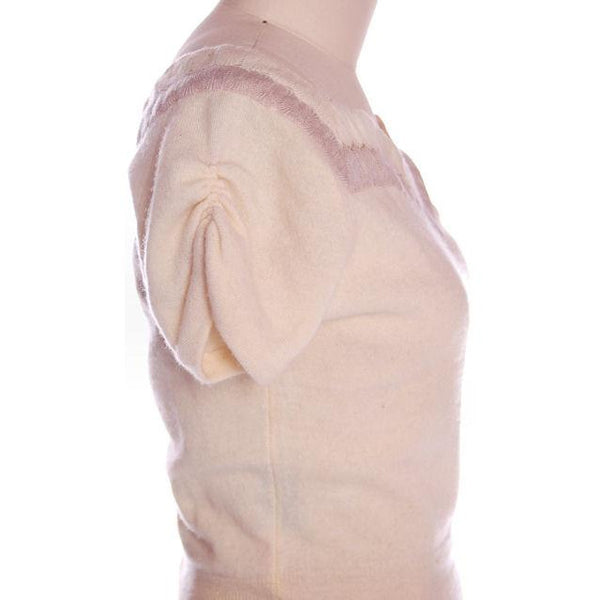 Vintage Sweater Suit 100% Cashmere Dorine Liebert Beige Sz 4 - The Best Vintage Clothing  - 5