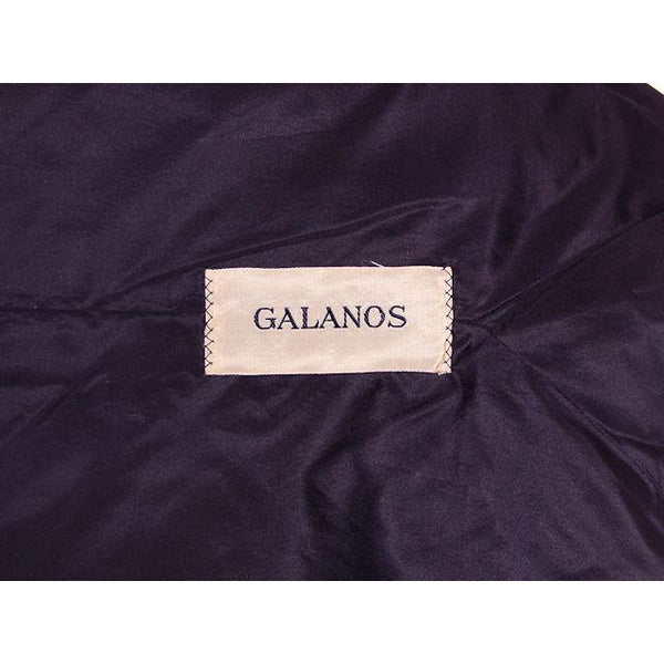 Vintage Black Gab 2 pc Suit James Galanos Custom Made 1957 Sz 4 - The Best Vintage Clothing  - 6