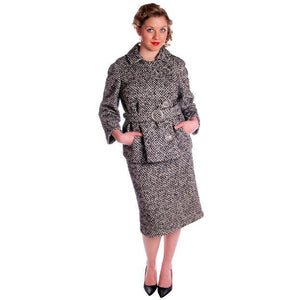 Vintage Black & White Mohair Tweed Suit 1960's - The Best Vintage Clothing  - 1