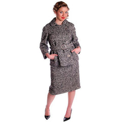 Vintage Black & White Mohair Tweed Suit 1960's - The Best Vintage Clothing  - 2