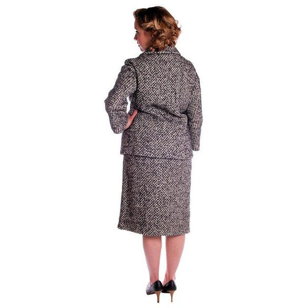 Vintage Black & White Mohair Tweed Suit 1960's - The Best Vintage Clothing  - 4