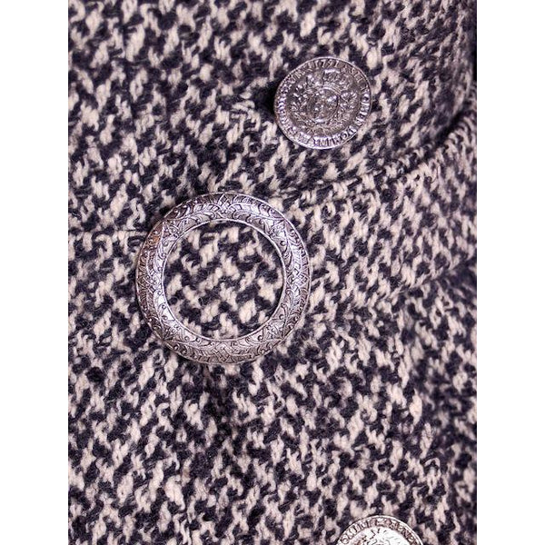 Vintage Black & White Mohair Tweed Suit 1960's - The Best Vintage Clothing  - 6