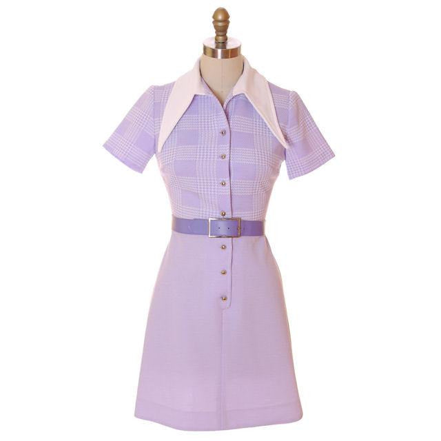Vintage Lavender Dress Ultra 1970s  Bea Butler 34-26-36 - The Best Vintage Clothing  - 1