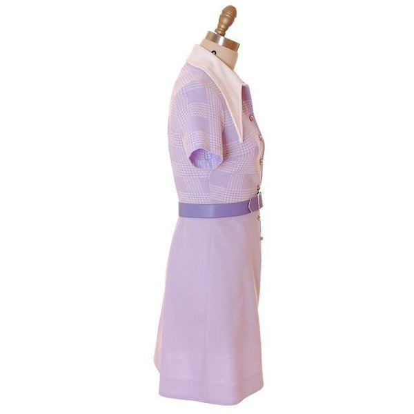 Vintage Lavender Dress Ultra 1970s  Bea Butler 34-26-36 - The Best Vintage Clothing  - 2