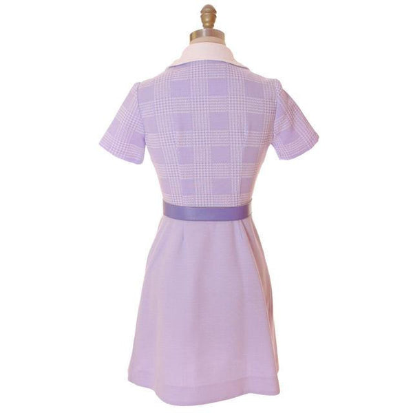 Vintage Lavender Dress Ultra 1970s  Bea Butler 34-26-36 - The Best Vintage Clothing  - 3