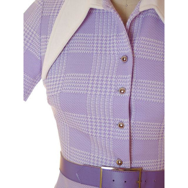 Vintage Lavender Dress Ultra 1970s  Bea Butler 34-26-36 - The Best Vintage Clothing  - 4
