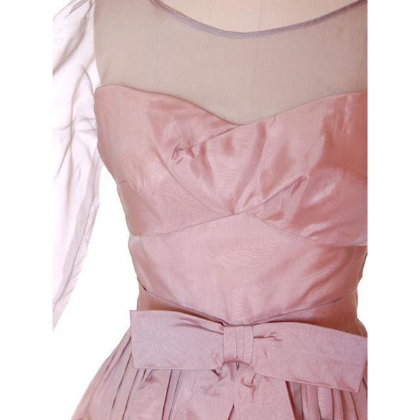 Vintage Party Dress Silk Organza in Mauve 1950s Ferman O'Grady 36-24-Free - The Best Vintage Clothing  - 5