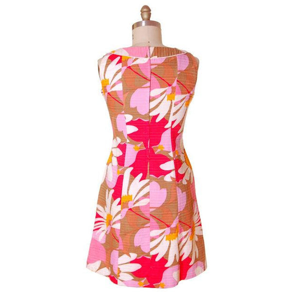 Vintage Cotton Hawaiian Print Sleeveless Dress 1960s 38-33-42 - The Best Vintage Clothing  - 3
