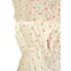 Vintage Nightgown Rayon Satin Bias Cut Pink Roses 1930s XL 52-40-48 - The Best Vintage Clothing  - 4
