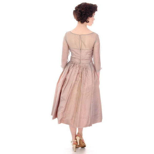 Vintage Party Dress Silk Organza in Mauve 1950s Ferman O'Grady 36-24-Free - The Best Vintage Clothing  - 7