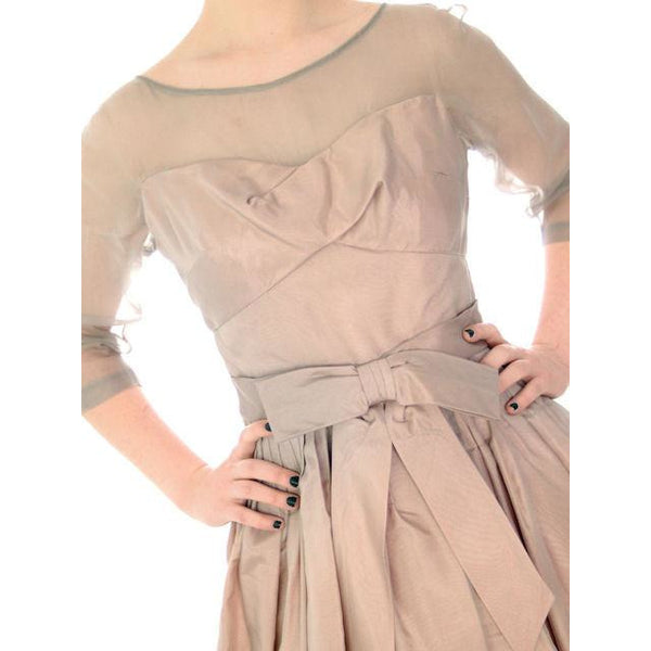 Vintage Party Dress Silk Organza in Mauve 1950s Ferman O'Grady 36-24-Free - The Best Vintage Clothing  - 8