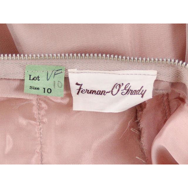 Vintage Party Dress Silk Organza in Mauve 1950s Ferman O'Grady 36-24-Free - The Best Vintage Clothing  - 9