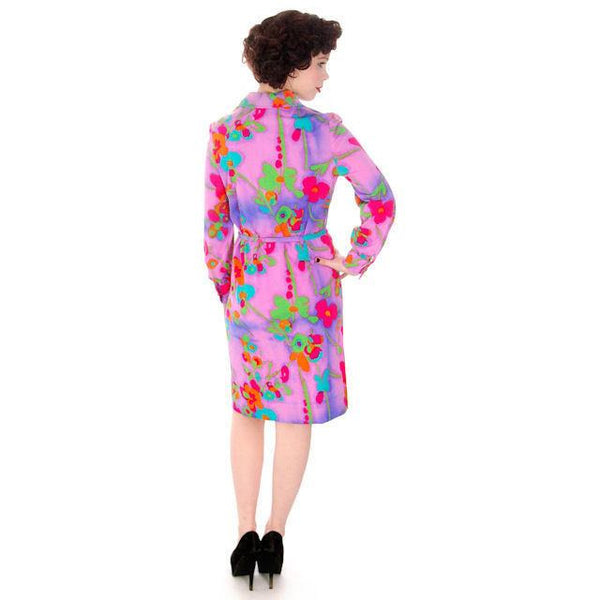 Vintage Shirt Dress Vivid Colors 1970'S Anika  38-42 Bust - The Best Vintage Clothing  - 2