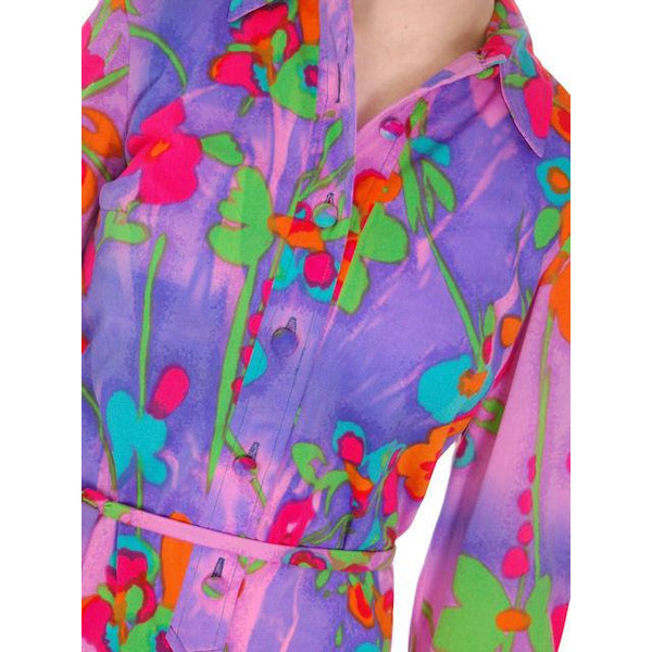 Vintage Shirt Dress Vivid Colors 1970'S Anika  38-42 Bust - The Best Vintage Clothing  - 3