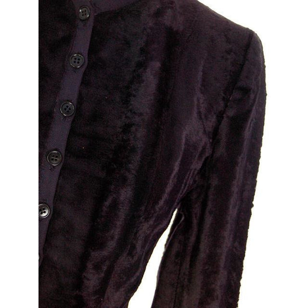 Vintage Jacket/Top Navy Blue Velour 1940s Tight Fitting - The Best Vintage Clothing  - 5