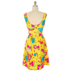 Vintage Dress Mod Hawaiian Short A-Line Dress Andrade 1970S - The Best Vintage Clothing  - 5
