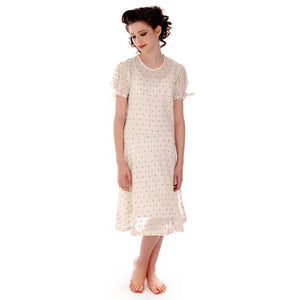 Young Lady's Cotton Printed Day Dress Dropped Waist 1920s 32-30-32 - The Best Vintage Clothing  - 1