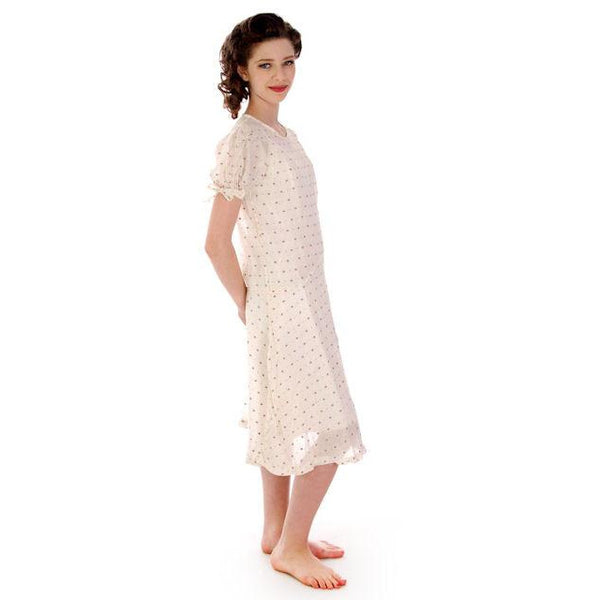 Young Lady's Cotton Printed Day Dress Dropped Waist 1920s 32-30-32 - The Best Vintage Clothing  - 2