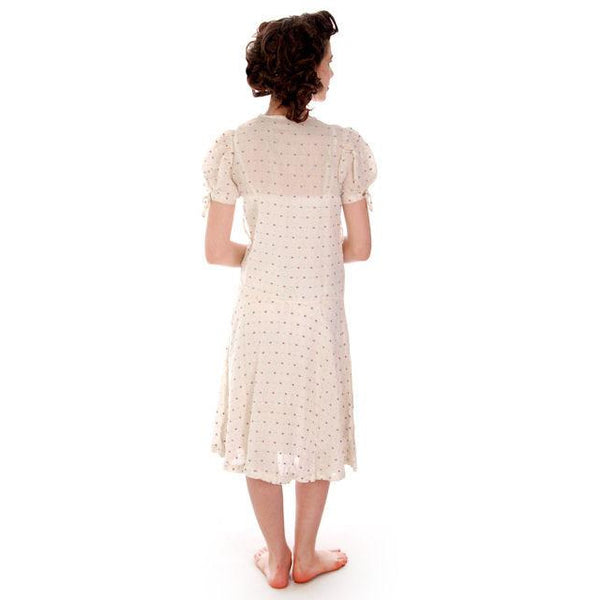 Young Lady's Cotton Printed Day Dress Dropped Waist 1920s 32-30-32 - The Best Vintage Clothing  - 3