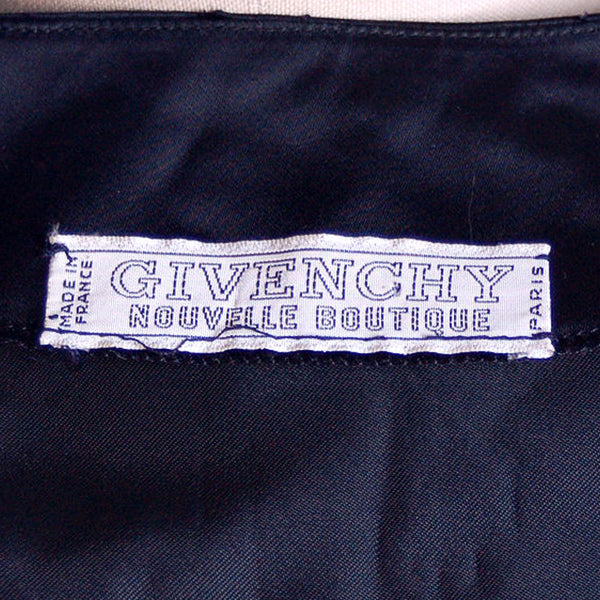 Vintage Dress Black Silk Sack Dress Givenchy Nouvelle Boutique 1970s M - The Best Vintage Clothing  - 5