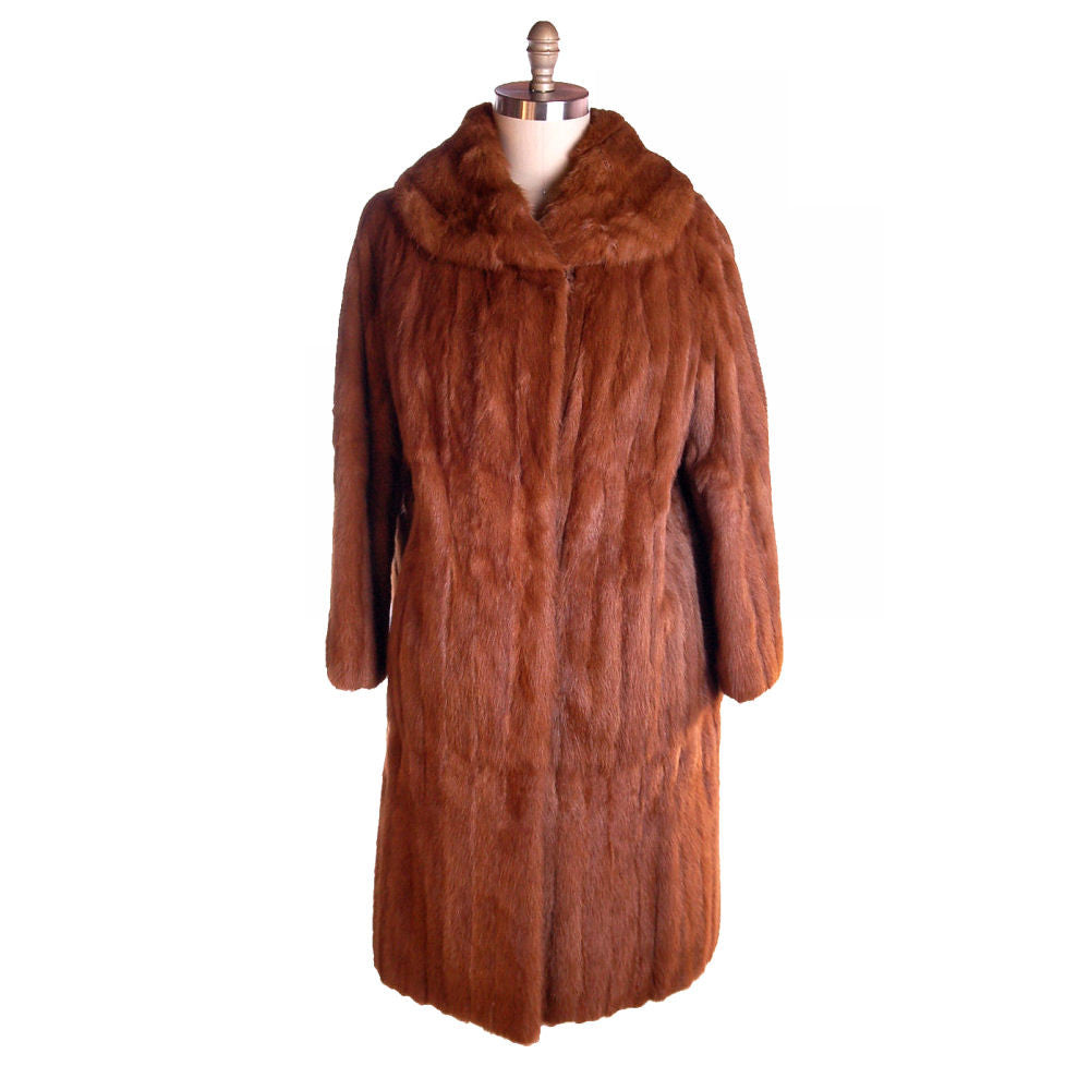 Vintage Womens Fur Coat Luscious Knee Length Red Squirrel 1950S Medium - The Best Vintage Clothing  - 1