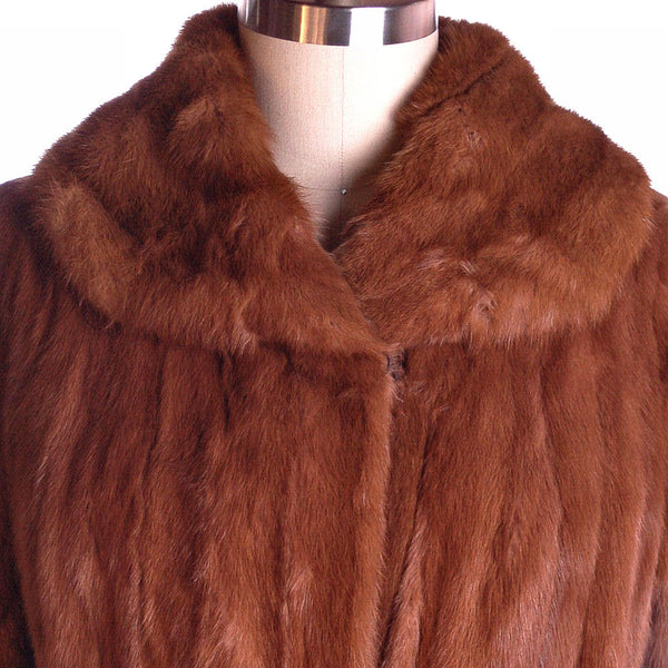 Vintage Womens Fur Coat Luscious Knee Length Red Squirrel 1950S Medium - The Best Vintage Clothing  - 4
