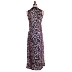 Vintage Cat Print Leopard Nylon Night Gown 1960s MEOW Small 34-34-44 - The Best Vintage Clothing  - 2