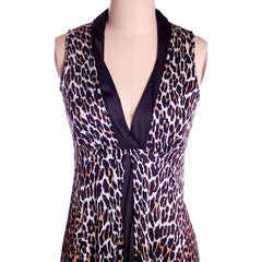 Vintage Cat Print Leopard Nylon Night Gown 1960s MEOW Small 34-34-44 - The Best Vintage Clothing  - 3